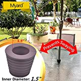 "MYARD Umbrella Cone Wedge fits Patio Table Hole Opening or base 2 to 2.5 Inch, & Pole Diameter 1 1/2"" (38mm, Brown)"
