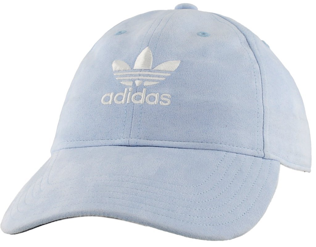 adidas Women's Originals Relaxed Plus Adjustable Strapback Cap, Aero Blue Suede/White, One Size by adidas (Image #4)