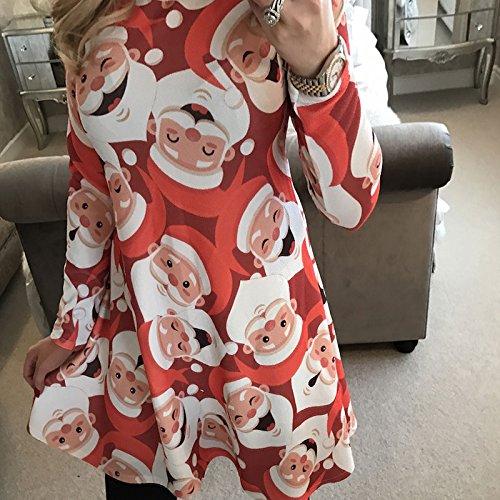 Stampa Beauty Da Babbo Natale Confezione Regalo Di Vin Albero Vestito Donna 4BTOcxn