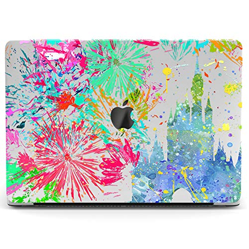 Wonder Wild Mac Retina Cover MacBook Pro 15 inch 12 11 Clear Hard Case Air 13 Apple 2019 Protective Laptop 2018 2017 2016 2015 Plastic Print Touch Bar Cute Magic Castle Fireworks Abstraction Girly