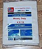 Heavy Duty Canvas Drop Cloth/Runner/4 X 12/Professional Series/10 Oz.