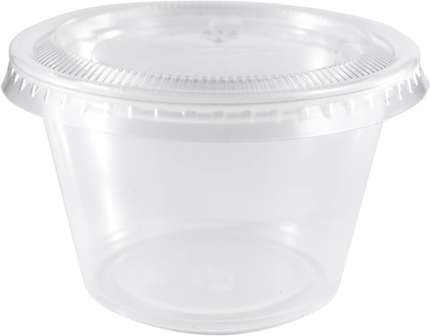 EDI Clear Plastic Disposable Portion Cups with Lids, 4 Ounce (100 Count)