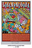 RARE POSTER concert festival LOLLAPALOOZA 2016 music giclee #'d/100!! 12x18