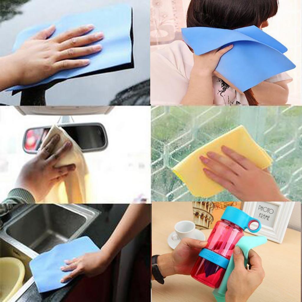 in camoscio sintetico 30 x 20 cm collectsound Magic Panno assorbente ideale per il lavaggio dell/'auto e come asciugamano per asciugare i capelli Random Color di qualit/à