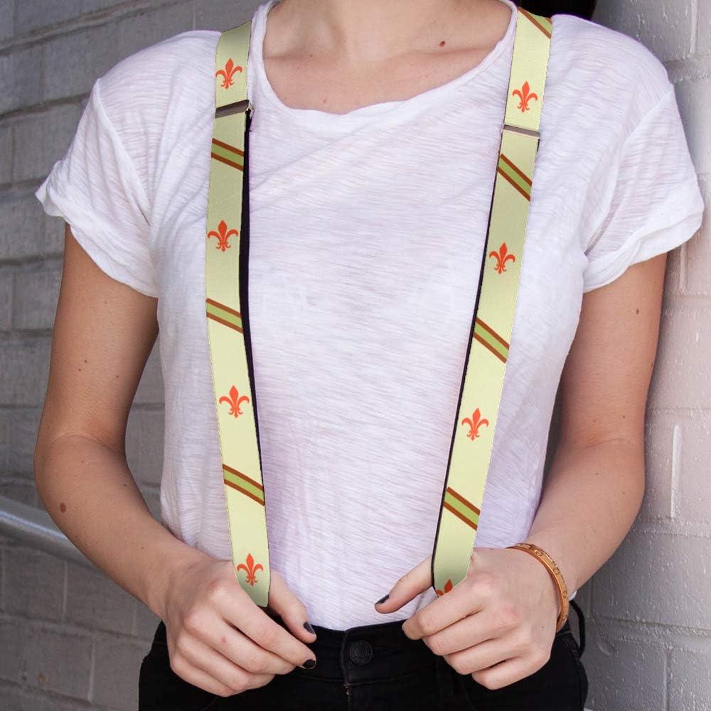 Buckle-Down Mens Suspender-Fleur de Lis One Size Multicolor