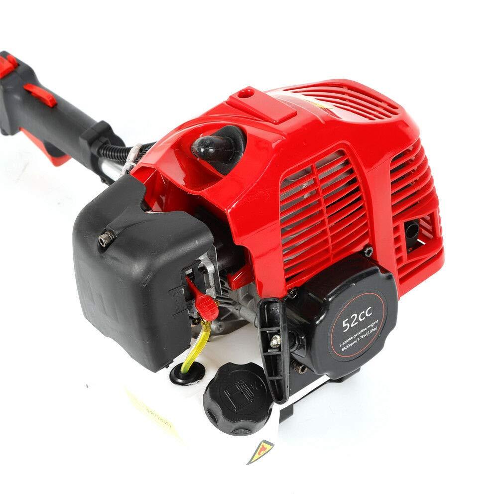52CC Benzin Schneefr/äse Berkalash Motorbesen 2-Takt Benzin Motorbesen mit Fahrgestell Schneeschieber Schnellwechse Benzin Sweeper Kehrmaschine