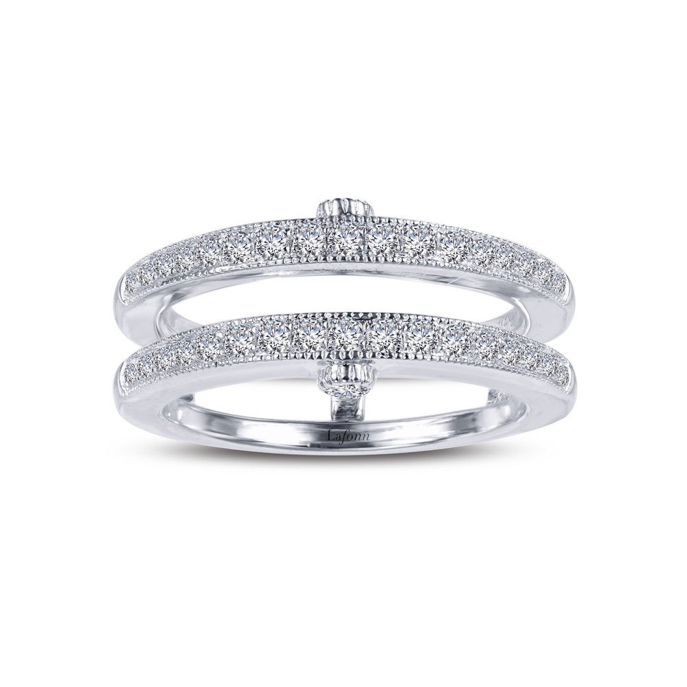 Lafonn Classic Sterling Silver Platinum Plated Simulated Diamond Ring (0.4 CTTW)