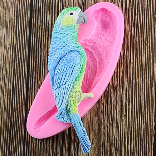 (1 piece Parrot Bird Cake Silicone Mold Fondant Candy Chocolate Fimo Clay Mould Kitchen Baking Sugarcraft Cake Decorating Tools)