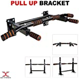 MAXSTRENGTH Authentic Wall Mounted Chin Up Pull Up Bars Home Gym Exercise Bar Chinning Up Wall Bracket Workout