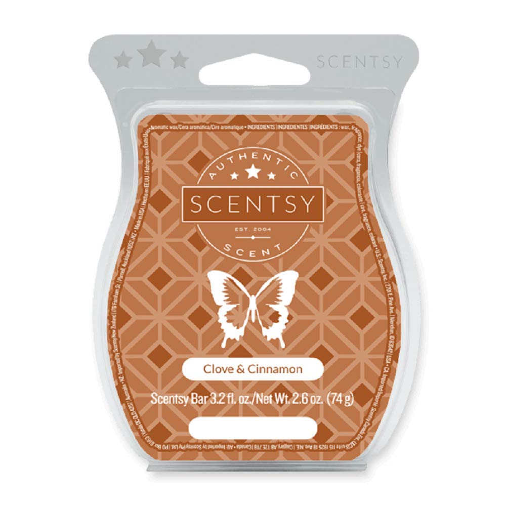 Clove and Cinnamon Scentsy Bar Wickless Candle Tart Warmer Wax 3.2 Fl Oz, 8 Squares