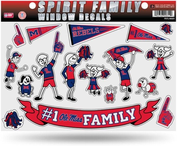 B00MLISH5O Licensed NCAA Ole Miss Rebels #1 Fan Family Window Stickers/Decals 61foQ-E1mpL