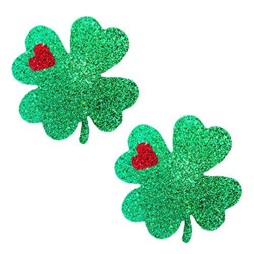 Neva Nude Kiss Me I'm Irish Green Glitter Nipztix Pasties Nipple Covers 1/2' Sch 80 Nipple