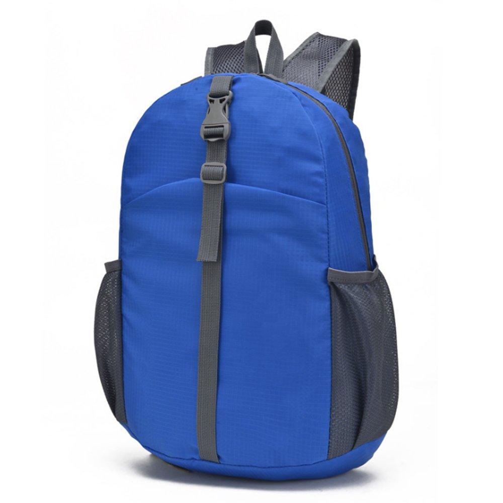 ADSROポータブル折りたたみ式バックパック防水耐久性Packable軽量ハイキングバッグ  ブルー B073GYFRF6