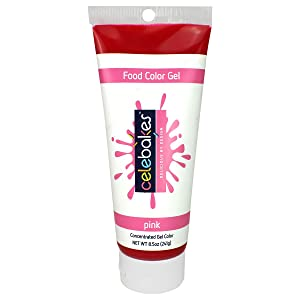 Celebakes by CK Products Pink Food Color Gel, 8.5 oz Tube