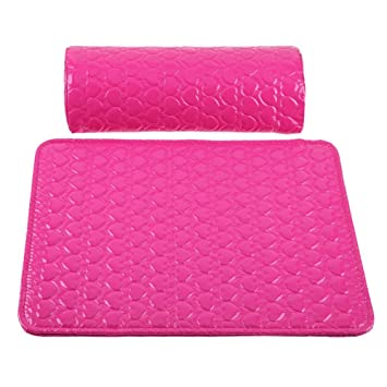 Amazon.com : 2pcs/set Leather Nail Art Pillow+Arm Rest Pad ...