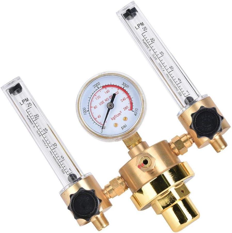 R/égulateur /à double tube Argon d/ébitm/ètre r/égulateur de gaz jauge G5//8 filetage m/âle pour souder