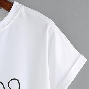 Camisas Mujer, Xinan Top sin Mangas Corto Atractivo del Vientre de Las Mujeres de la Moda Camisetas de Manga Corta (S, Blanco): Amazon.es: Ropa y accesorios