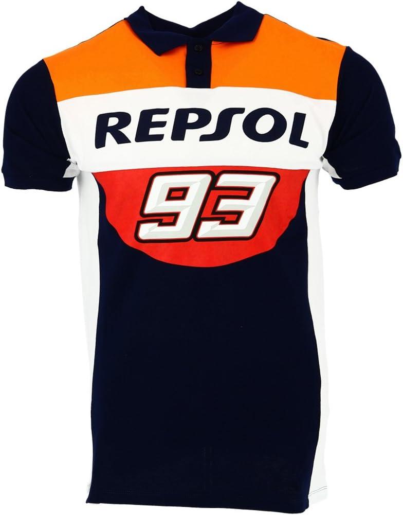 HONDA Repsol Marc Marquez 93 Moto GP Panel Azul Polo Camisa Oficial 2018