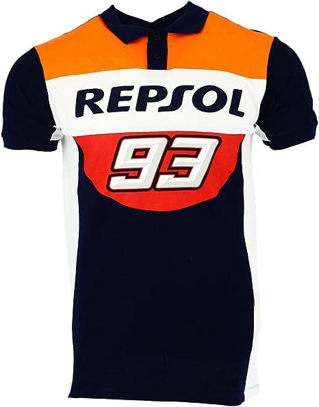 HONDA Repsol Marc Marquez 93 Moto GP Panel Azul Polo Camisa ...