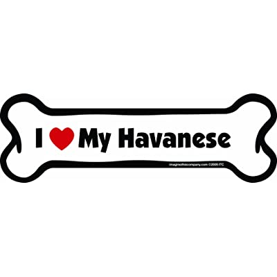 Imagine This Bone Car Magnet, I Love My Havanese, 2-Inch by 7-Inch: Pet Supplies