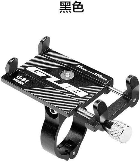 Soporte movil Bici,Tenedor del teléfono de la Motocicleta de la batería eléctrica del Tenedor del teléfono móvil de la aleación de Aluminio de la Bicicleta de montaña, Negro: Amazon.es: Deportes y aire