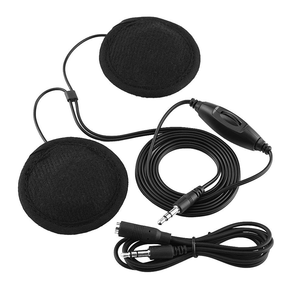 Motorcycle Helmet Headset Kit, Universal Motorcycle Helmet Headphone Stereo Headset Call Earphone 3.5mm Jack-plug with Extension Cable, For Mobile Phone MP3 Keenso