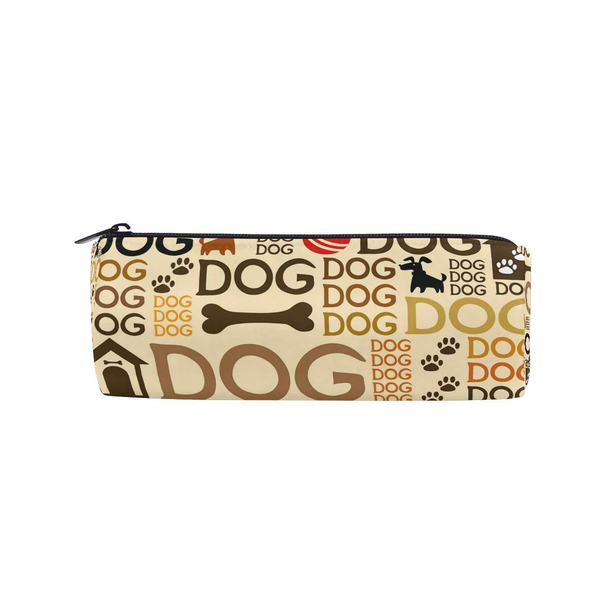 Estuche para bolígrafo de huellas de perro, estuche para estudiantes, oficina, colegio, mediano, bolsa de maquillaje, bolsa de almacenamiento para ...