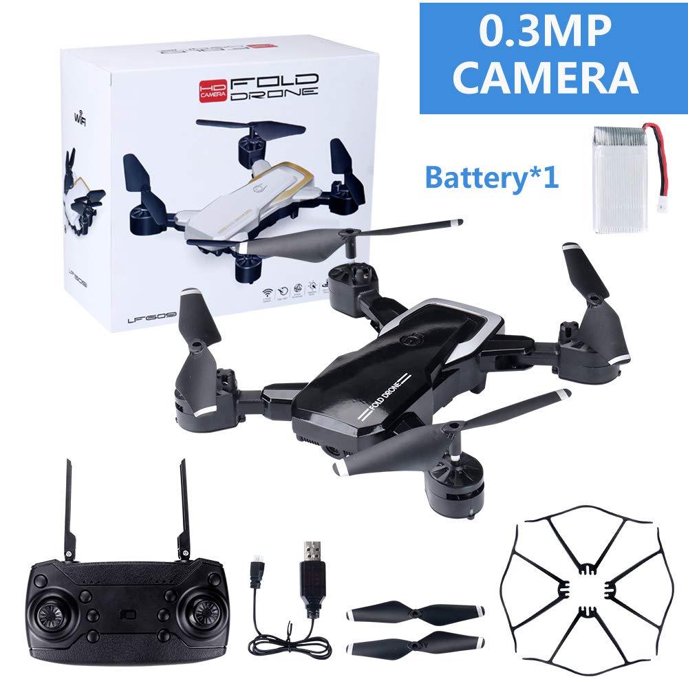 WANGKM Quadrocopter-Drohne, 720p HD WiFi-Kamera | Fernbedienung für Smartphone-App Follow-Me, Auto-Hover, Höhenlage, Start/Landung mit Einer Taste, bürstenlose Motoren