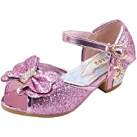 Latijnse dansschoenen voor meisjes, strik, premium schoenen, parels, pailletten, zilver, standaard hak, antislip…
