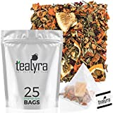 Tealyra - Orange Lemonade - 25 Bags - Hibiscus - Eucalyptus - Lemongrass - Herbal Fruity Loose Leaf Tea - Vitamins Rich - Boost Immune System - Caffeine-Free - Pyramids Style Sachets