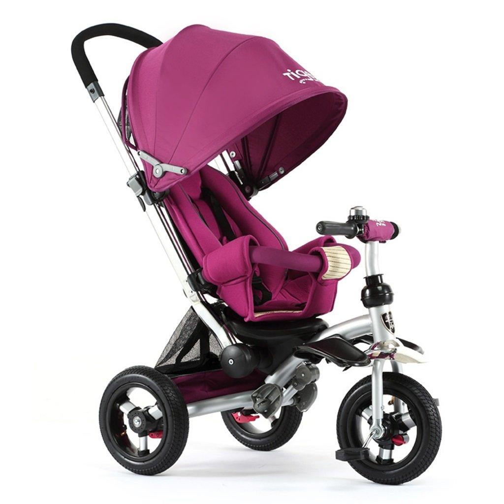 HAIZHEN マウンテンバイク 子供の三輪車座って/乗馬の赤ちゃんカートは、天井非膨張性のチタンの空の車の自転車を調整する 新生児 B07DL8S7HB 1 1