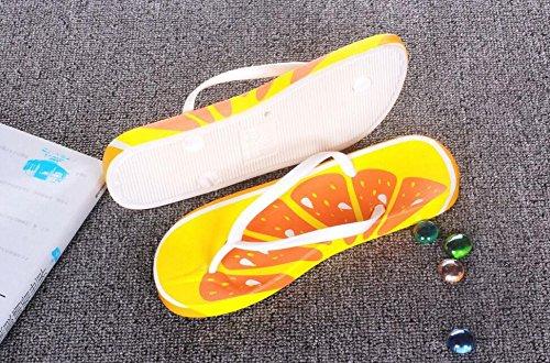 Playa Wa Interior de y Fruta Chanclas Para Estilo Da Sandalias y Femenino Zapatos Verano de 47z6gx