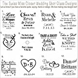 100 Custom Etched Mini Mason Jar Shot Glass Personalized Wedding Favor Groom's Men Bride's Maid Gift