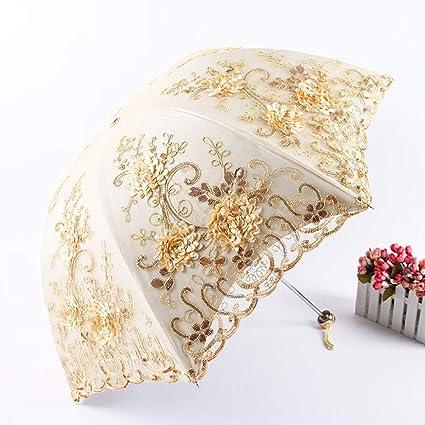 47bda46abeaa Amazon.com: Umbrella Ladies Travel Compact Windproof Double Layer ...