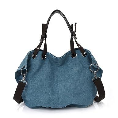 Amazon.com | Fanova Canvas Bags Ladies Casual Hobos Bag Femal ...