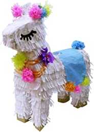 Lytio White Llama Pinata Perfect for Girls Birthday Party Ideal for Decorations, Supplies, Center Piece, Mexican Fiesta, or P