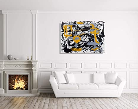 JH Lacrocon Pinturas a Mano Amarillo Gris Negro 1948 de ...