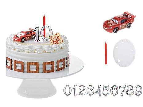3d Cars Gâteau Décoration 13 Pièces Gâteau Bougie à Gâteau Avec