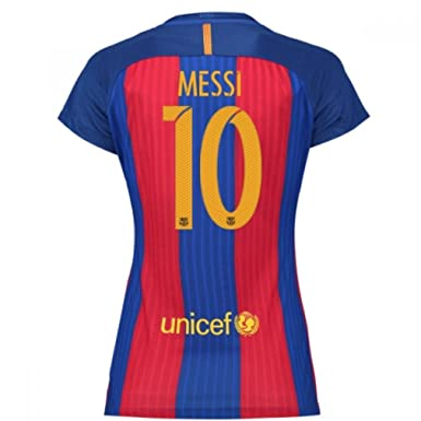 Amazon.com  Nike Barcelona 2016-17 Home Womens Soccer Jersey Messi ... 1bff892a38