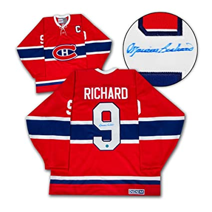 huge discount 56ff0 5cf65 MAURICE Rocket RICHARD Montreal Canadiens SIGNED JERSEY ...