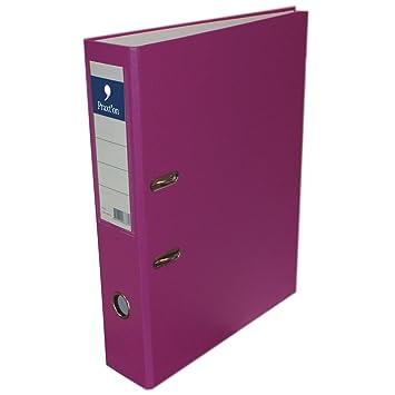 Archivador PRAXTON Pastel Rosa, Folio Ancho 70 mm.: Amazon.es: Oficina y papelería