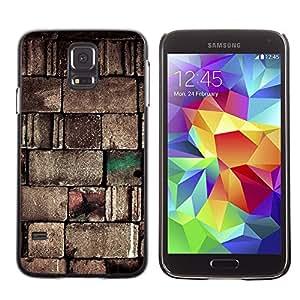 Paccase / SLIM PC / Aliminium Casa Carcasa Funda Case Cover para - Wall Stone Design Blocks Art Architecture - Samsung Galaxy S5 SM-G900