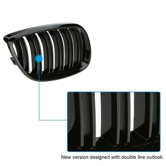 Rejillas negras para el radiador del coche, acabado brillo, de KKmoon: Amazon.es: Coche y moto