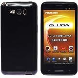 スマートフォン用TPU(ポリウレタン) ソフトケース (docomo ELUGA P P-03E, ブラック)
