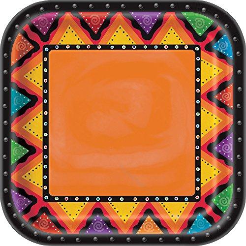 - Square Fiesta Dinner Plates, 8ct