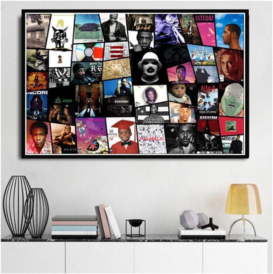 Rap Hip Hop Musician Music Art Poster and Canvas