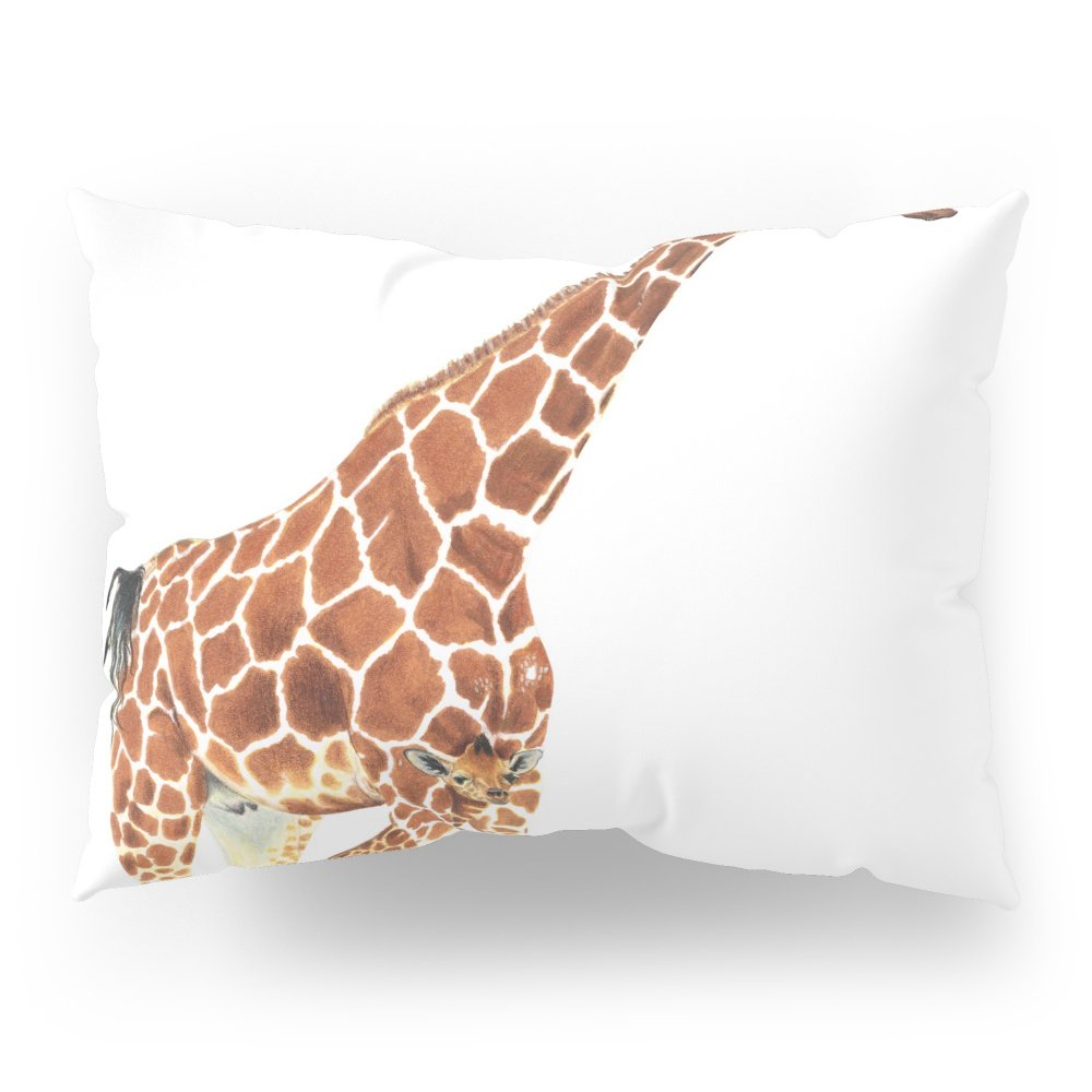 Society6 Giraffe Art - A Mother's Love - By Sharon Cummings Pillow Sham Standard (20'' x 26'') Set of 2