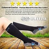 BLITZU 1 Air Travel Compression Socks 20-30mmHg for