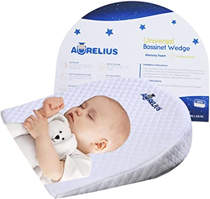 BABY Infant ANTI REFLUX COLIC PILLOW CUSHION WEDGE COT BED PRAM+FREE Pillow Case