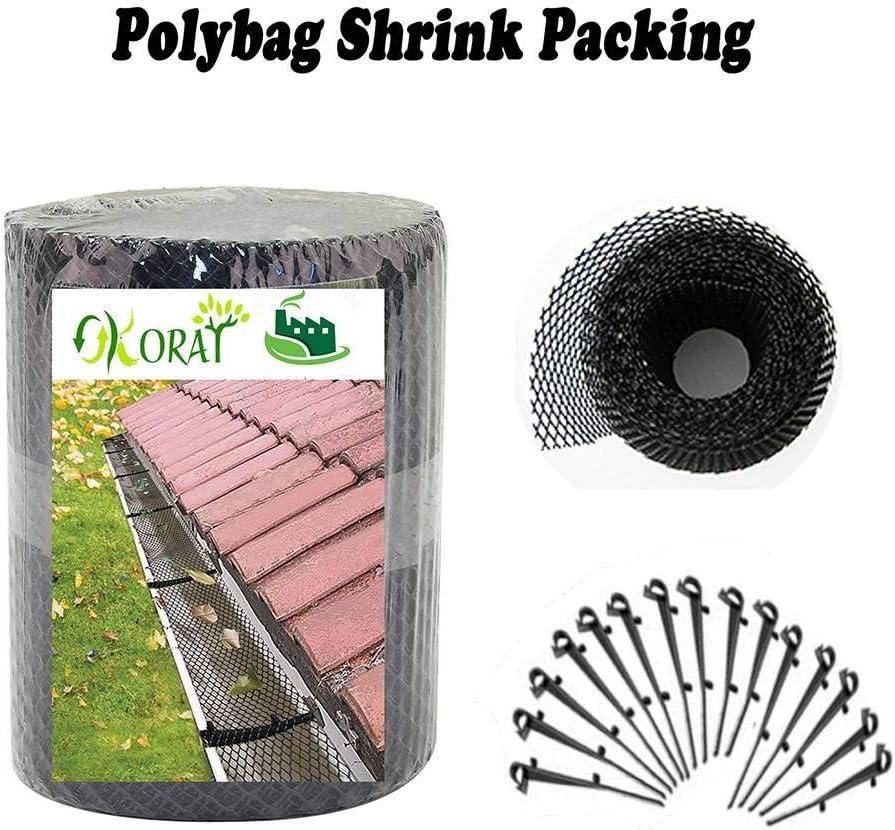 Muck Pukkr Mud /& Debris Guard Moss Pack de 4 protectores de canalones de metal F/ácil instalar trampas de canalones Cubiertas de bajante Protector de malla met/álica